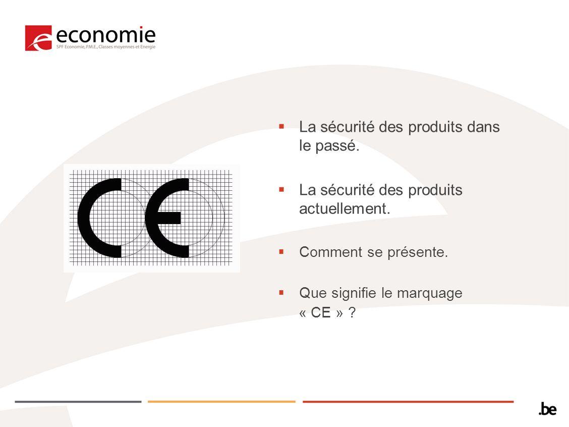 La sécurité des produits dans le passé. La sécurité des produits actuellement. Comment se présente. Que signifie le marquage « CE » ?