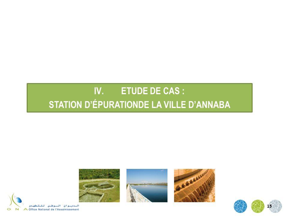 15 IV.ETUDE DE CAS : STATION DÉPURATIONDE LA VILLE DANNABA