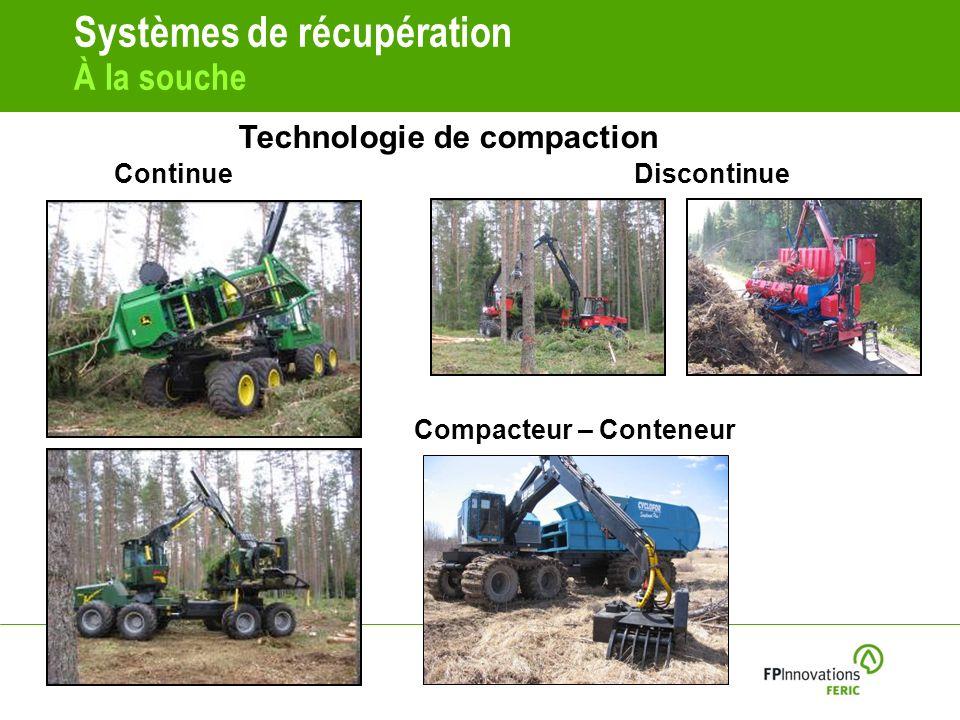 Systèmes de récupération À la souche ContinueDiscontinue Compacteur – Conteneur Technologie de compaction