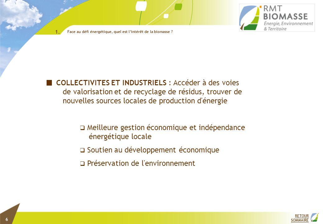 COLLECTIVITES ET INDUSTRIELS : Accéder à des voies de valorisation et de recyclage de résidus, trouver de nouvelles sources locales de production d'én