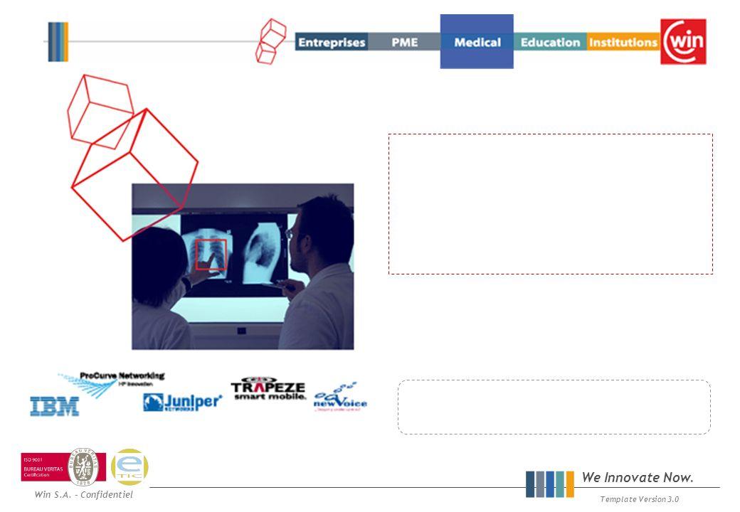 Win S.A. - Confidentiel We Innovate Now. Template Version 3.0 Win HealthCare Event 20 Mars 2008