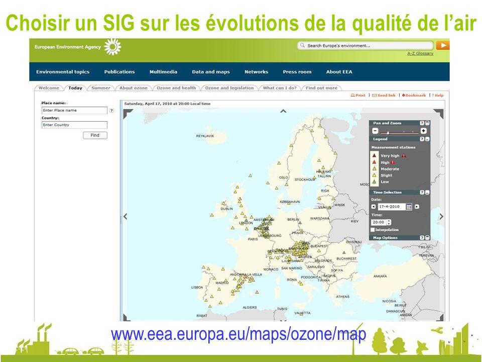 Notre choix : un SIG sur la qualité de lair à Varsovie www.airqualitynow.eu http://62.111.248.10/sojp2