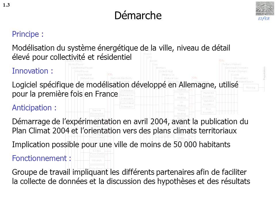 Bilan des consommations énergétiques 1.4 Erstein 2003 Alsace 1999 France 1999