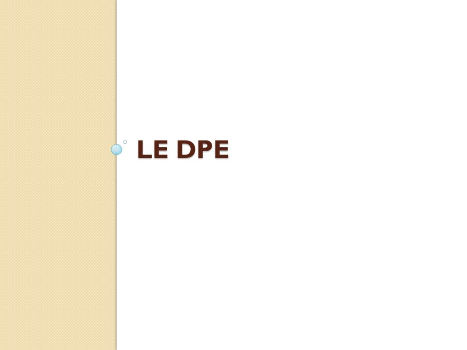 LE DPE