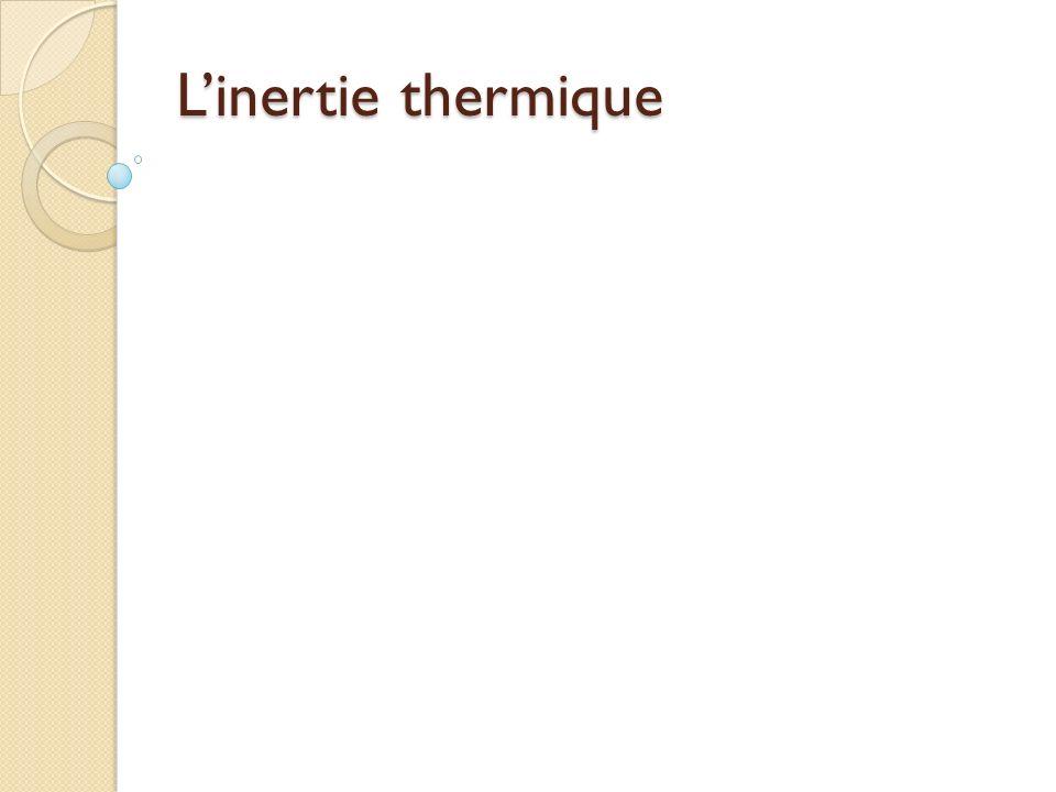 Linertie thermique