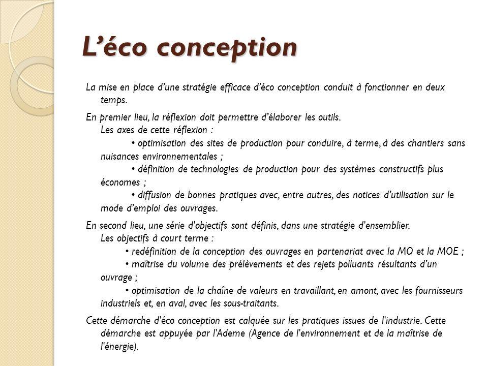 Léco conception La mise en place dune stratégie efficace déco conception conduit à fonctionner en deux temps.