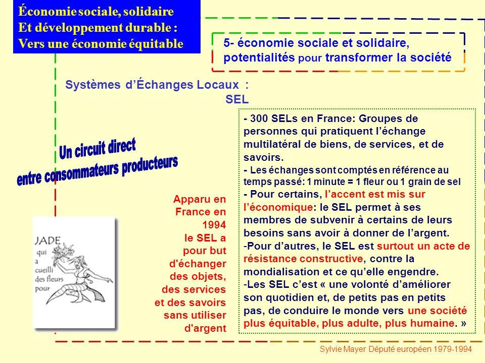 Systèmes dÉchanges Locaux : SEL - 300 SELs en France: Groupes de personnes qui pratiquent léchange multilatéral de biens, de services, et de savoirs.