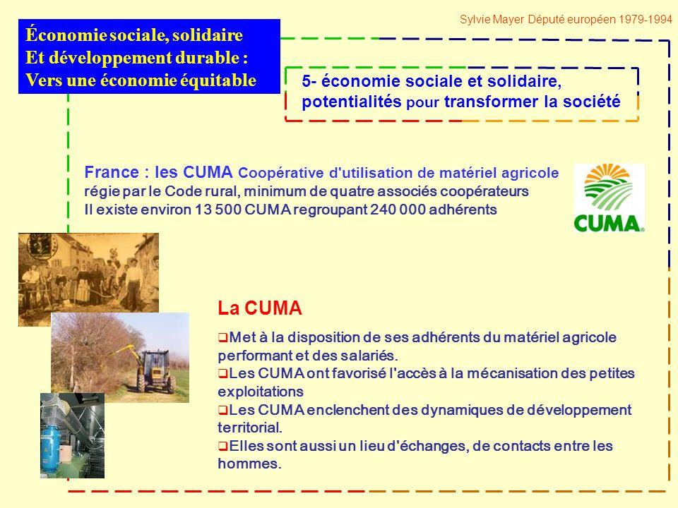 La CUMA Met à la disposition de ses adhérents du matériel agricole performant et des salariés.
