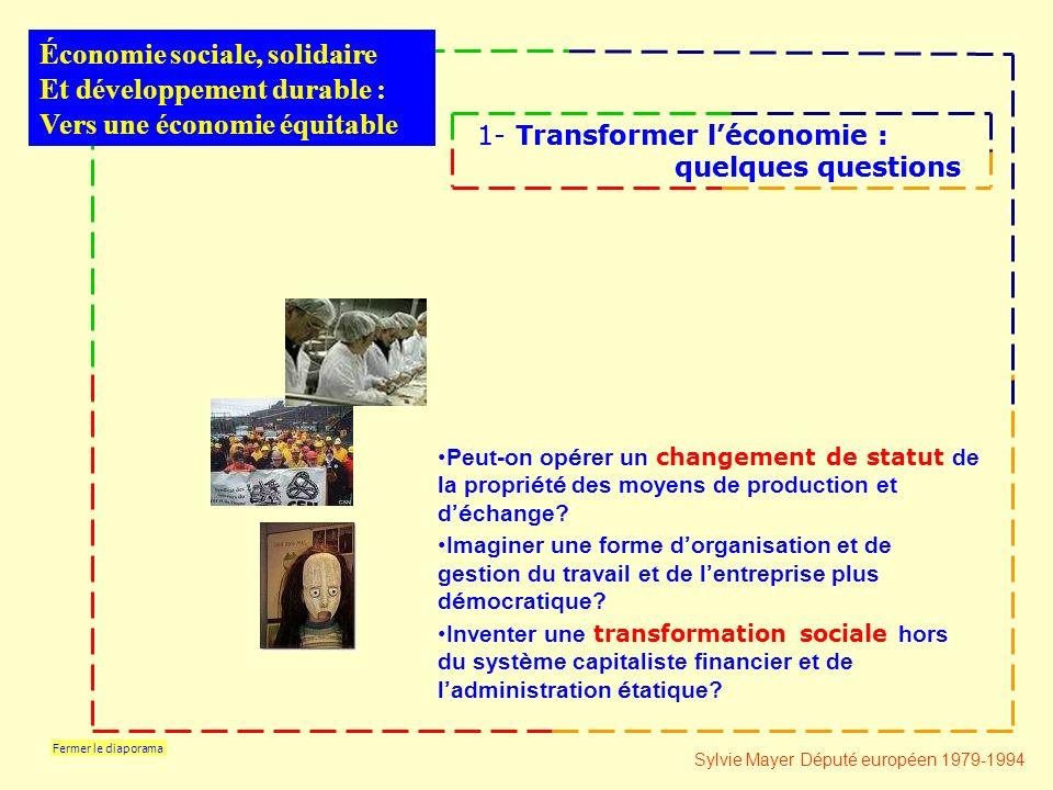 Fermer le diaporama Peut-on op é rer un changement de statut de la propri é t é des moyens de production et d é change.