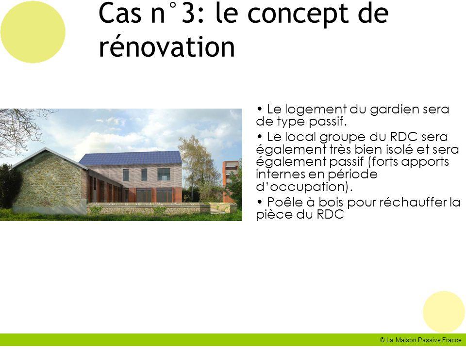 © La Maison Passive France Cas n°3: le concept de rénovation Le logement du gardien sera de type passif. Le local groupe du RDC sera également très bi