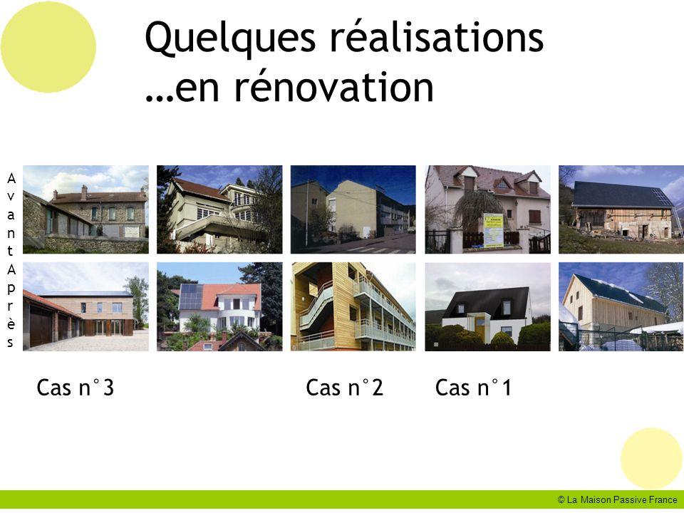 © La Maison Passive France Quelques réalisations …en rénovation AvantAprèsAvantAprès Cas n°1Cas n°2Cas n°3