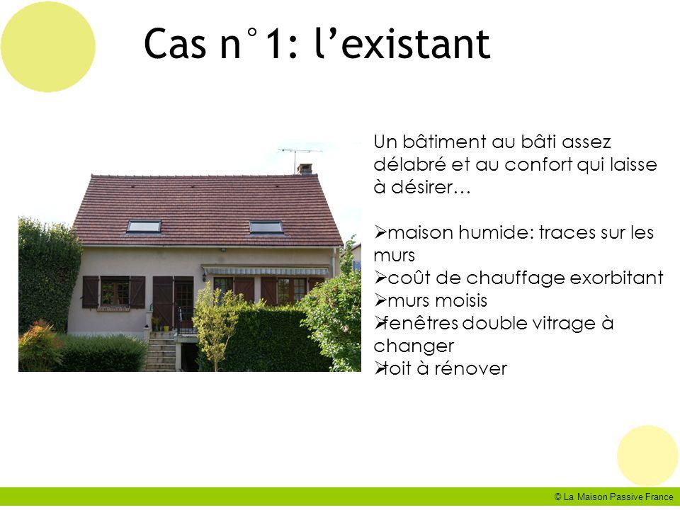 © La Maison Passive France Cas n°1: lexistant Un bâtiment au bâti assez délabré et au confort qui laisse à désirer… maison humide: traces sur les murs