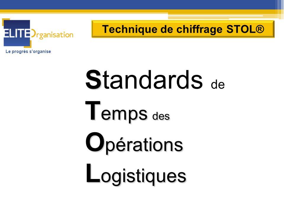 Le progrès sorganise Technique de chiffrage STOL® S Standards de T emps des O pérations L ogistiques