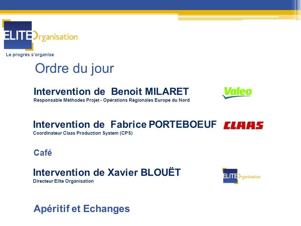 Le progrès sorganise Intervention de Benoit MILARET Responsable Méthodes Projet - Opérations Régionales Europe du Nord Intervention de Fabrice PORTEBO