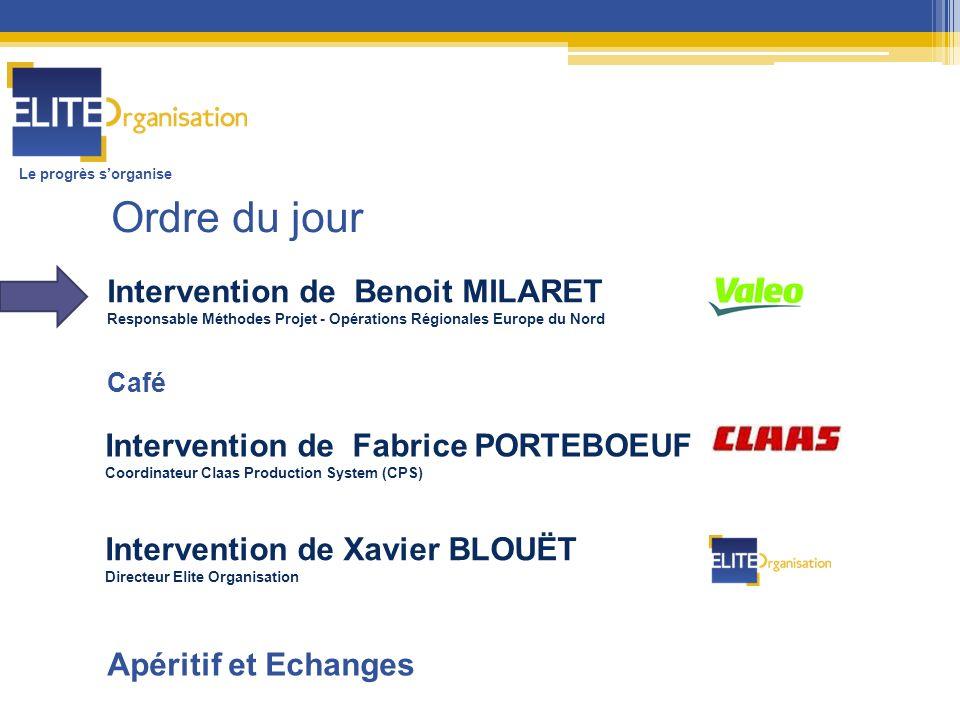 Intervention de Benoit MILARET Responsable Méthodes Projet - Opérations Régionales Europe du Nord Intervention de Fabrice PORTEBOEUF Coordinateur Claa