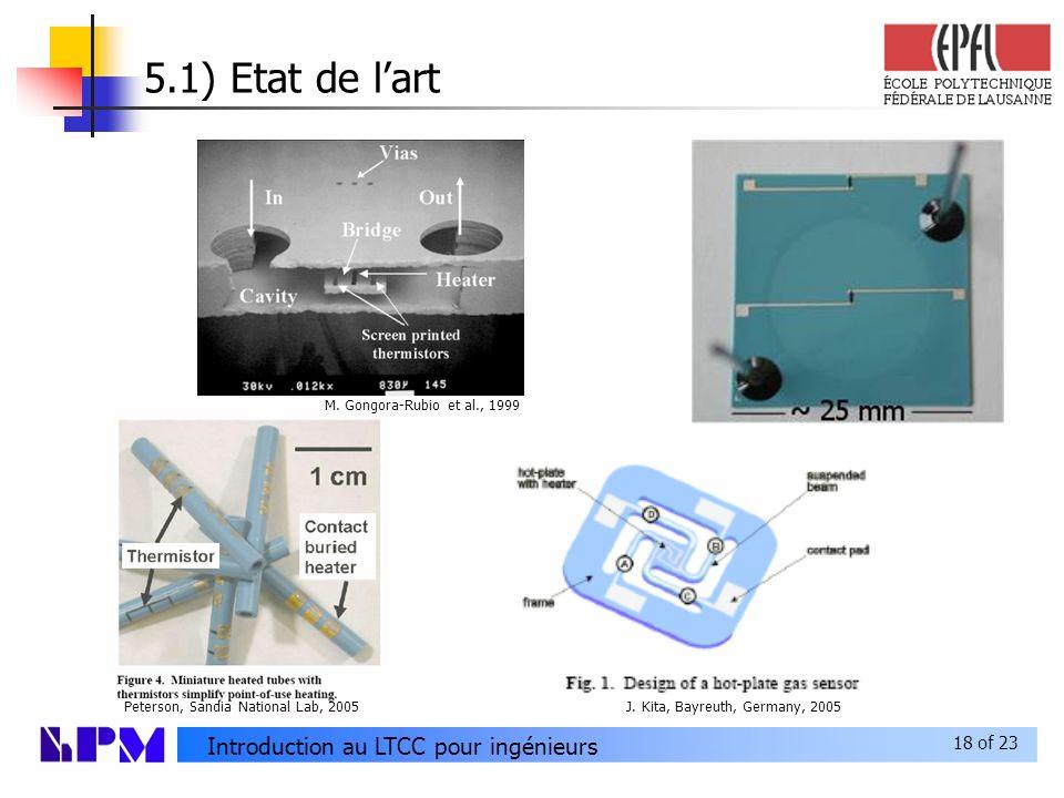 18 of 23 Introduction au LTCC pour ingénieurs 5.1) Etat de lart M.