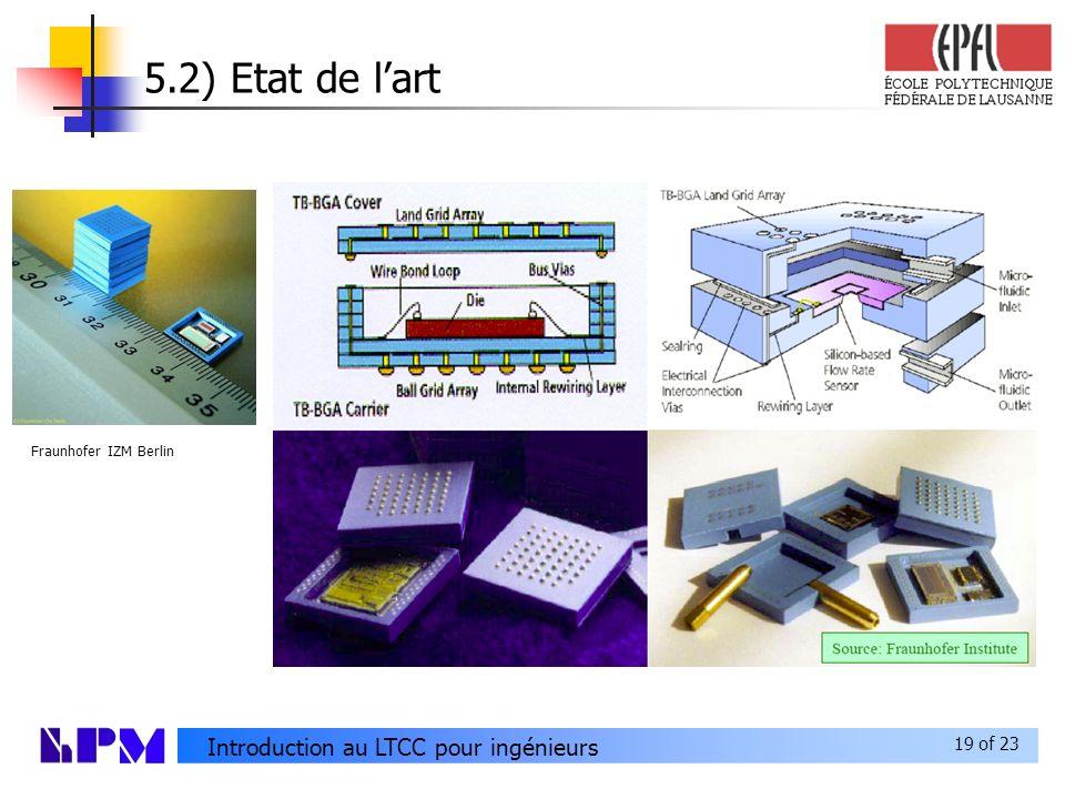 19 of 23 Introduction au LTCC pour ingénieurs 5.2) Etat de lart Fraunhofer IZM Berlin