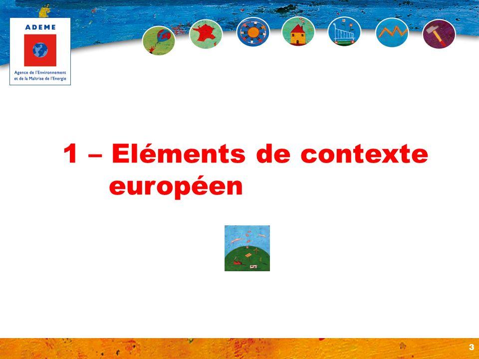 3 1 – Eléments de contexte européen