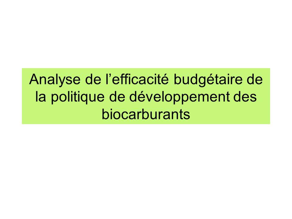 Analyse de lefficacité budgétaire de la politique de développement des biocarburants