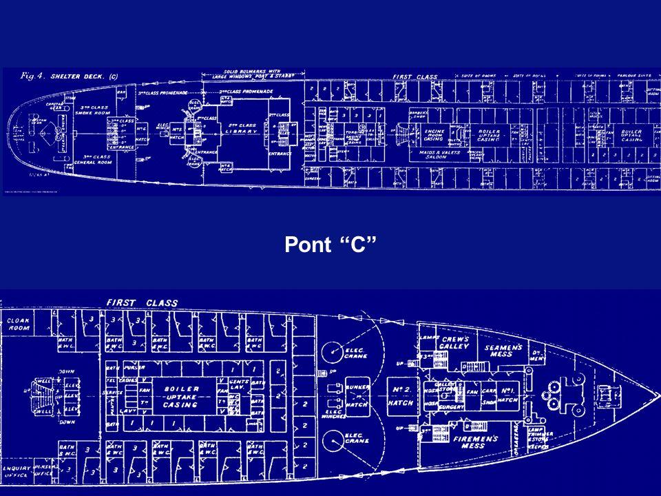 Voilà la seule vue de lintérieur du Titanic en construction.Pont C