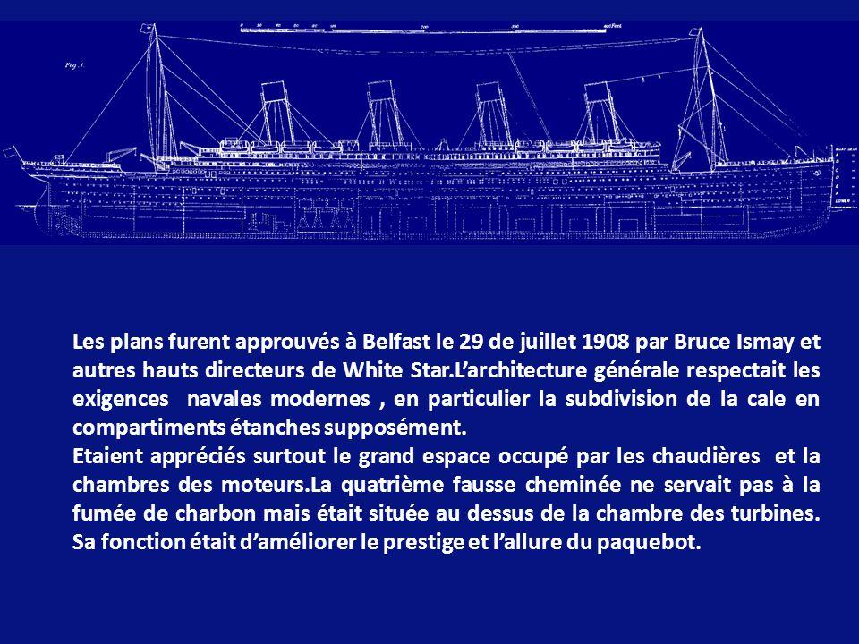 En 1907, lors dune réunion à la maison candienne de William J.Pririe, Bruce Ismay proposa la construction de deux grands navires (et un troisième plus