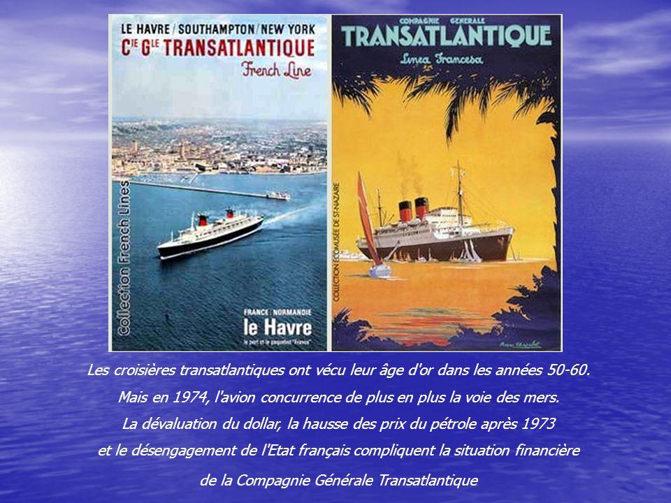 A l'époque, le France était l'un des paquebots les plus fastes du monde. Luxueusement meublé, il a été décoré par plusieurs peintres de l'Ecole de Par
