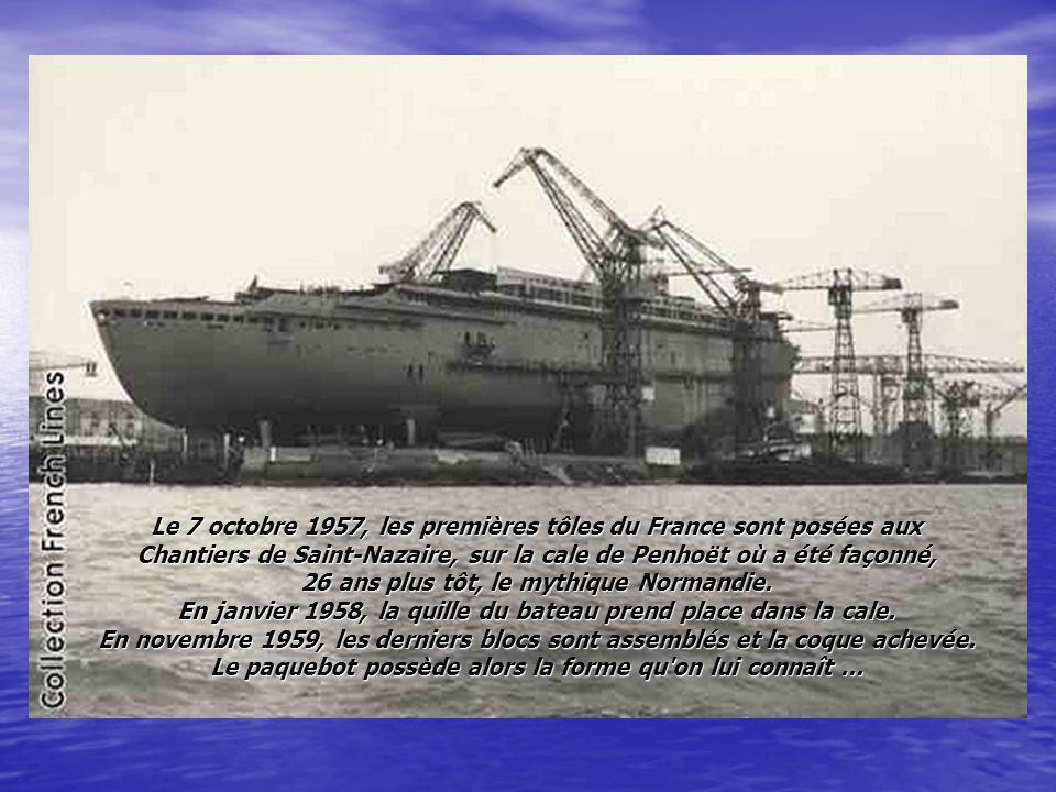 C était le plus long et le plus élégant Paquebot des seventies… Le France a eu une vie plutôt agitée. De sa construction aux Chantiers de l'Atlantique
