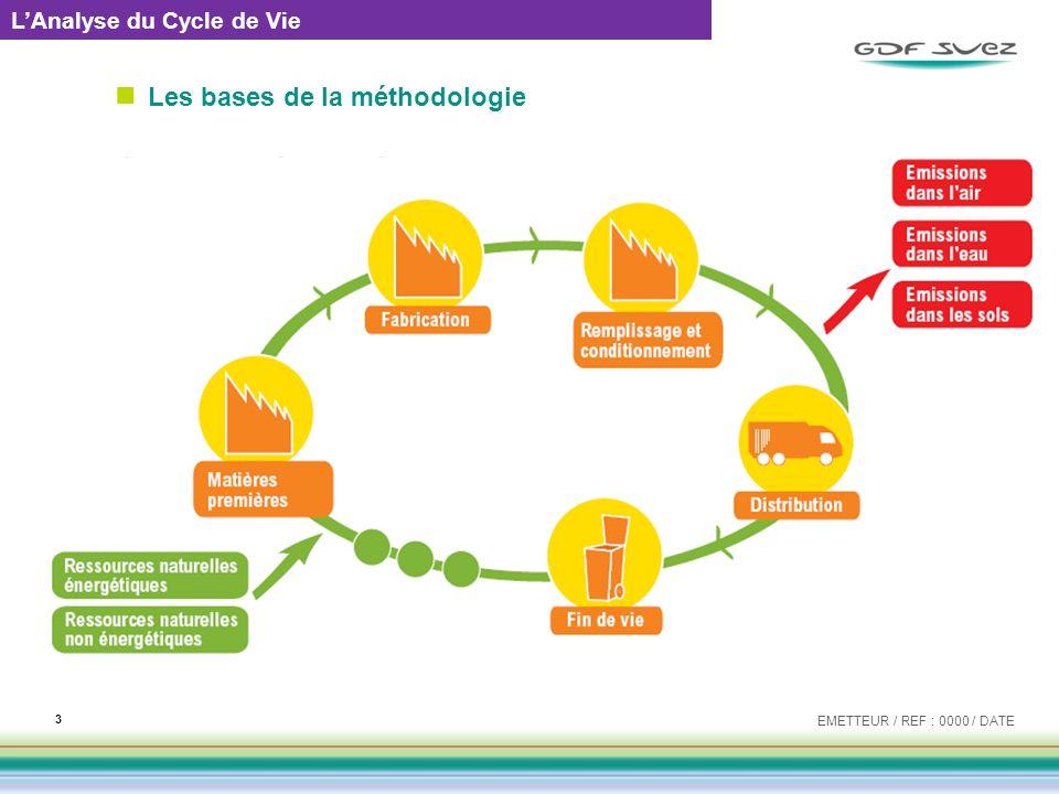 Les bases de la méthodologie EMETTEUR / REF : 0000 / DATE 3 LAnalyse du Cycle de Vie