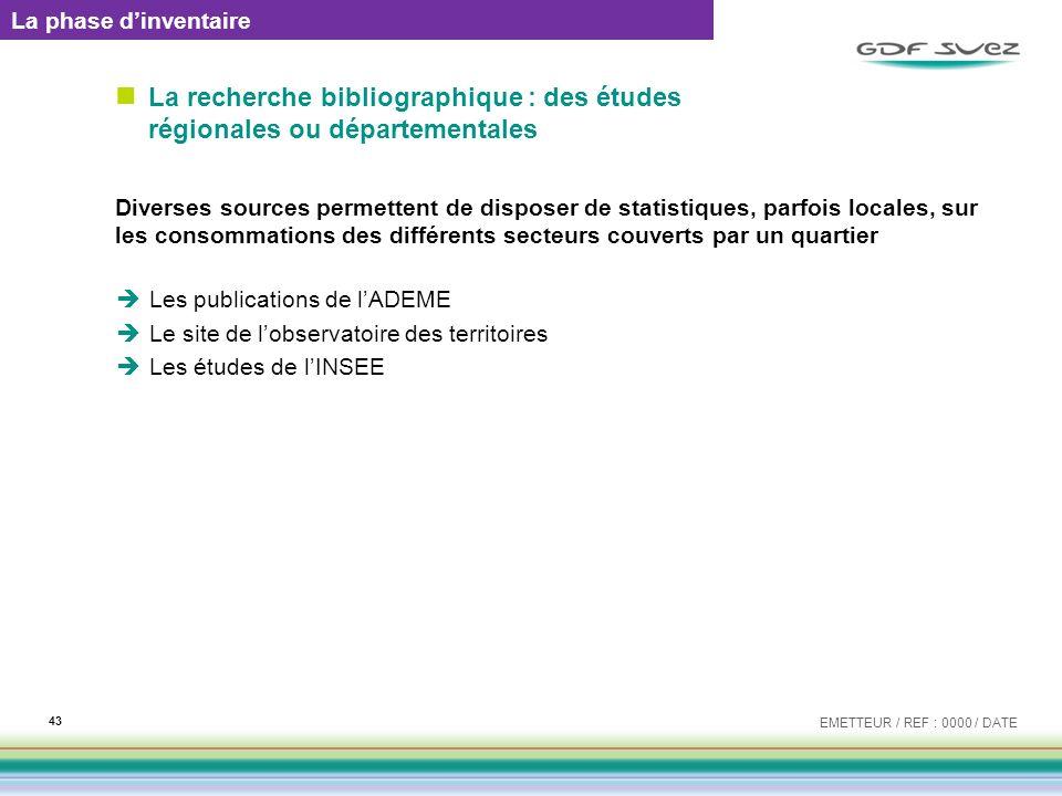 La recherche bibliographique : des études régionales ou départementales Diverses sources permettent de disposer de statistiques, parfois locales, sur