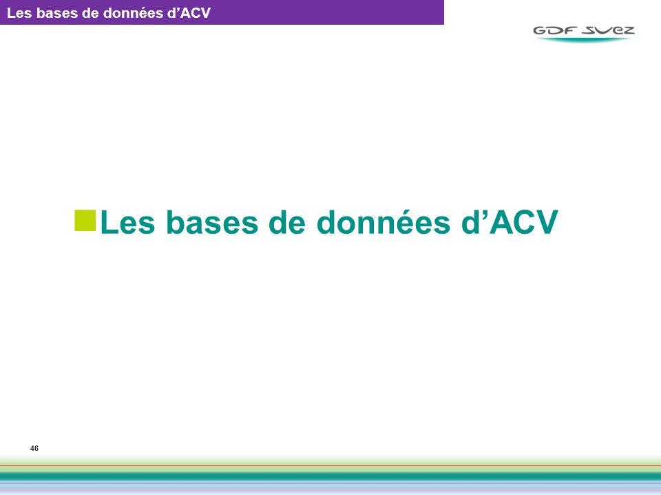 46 Les bases de données dACV