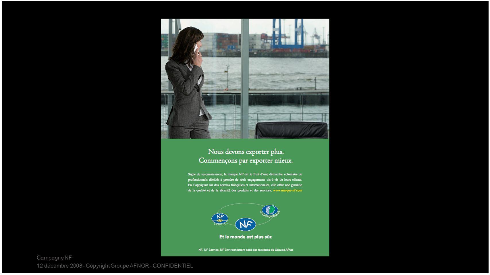 Campagne NF 12 décembre 2008 - Copyright Groupe AFNOR - CONFIDENTIEL 18