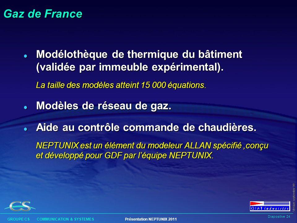 Diapositive 23 GROUPE CS COMMUNICATION & SYSTEMESPrésentation NEPTUNIX 2011 Version septembre 99 BRGM l Systèmes géochimiques (interactions eau- roche