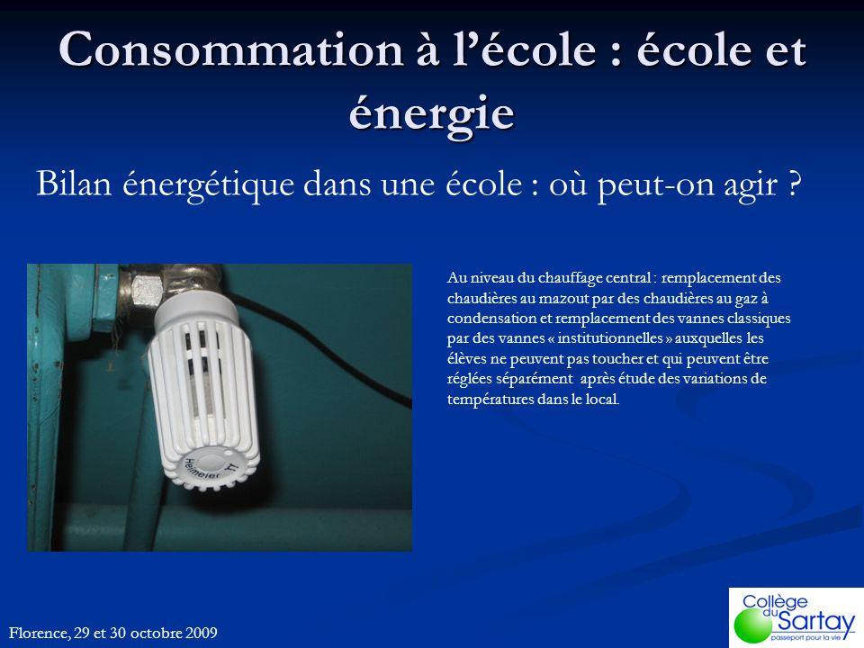 Bilan énergétique dans une école : où peut-on agir .