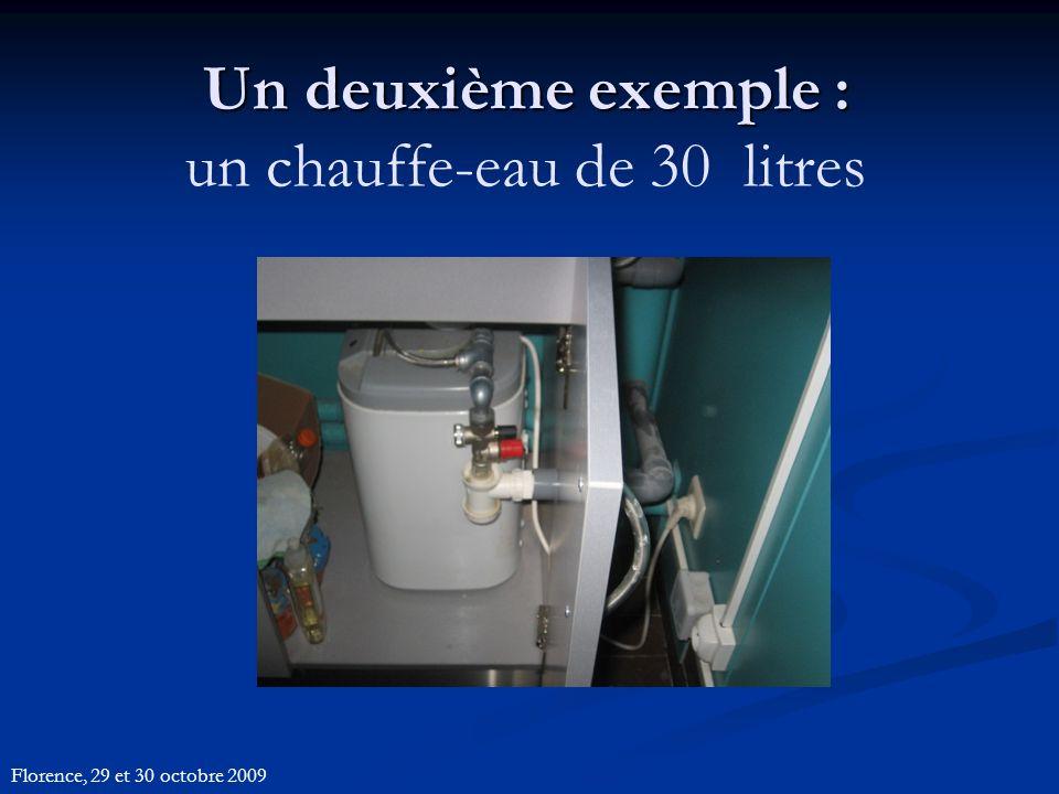 Un deuxième exemple : Un deuxième exemple : un chauffe-eau de 30 litres Florence, 29 et 30 octobre 2009