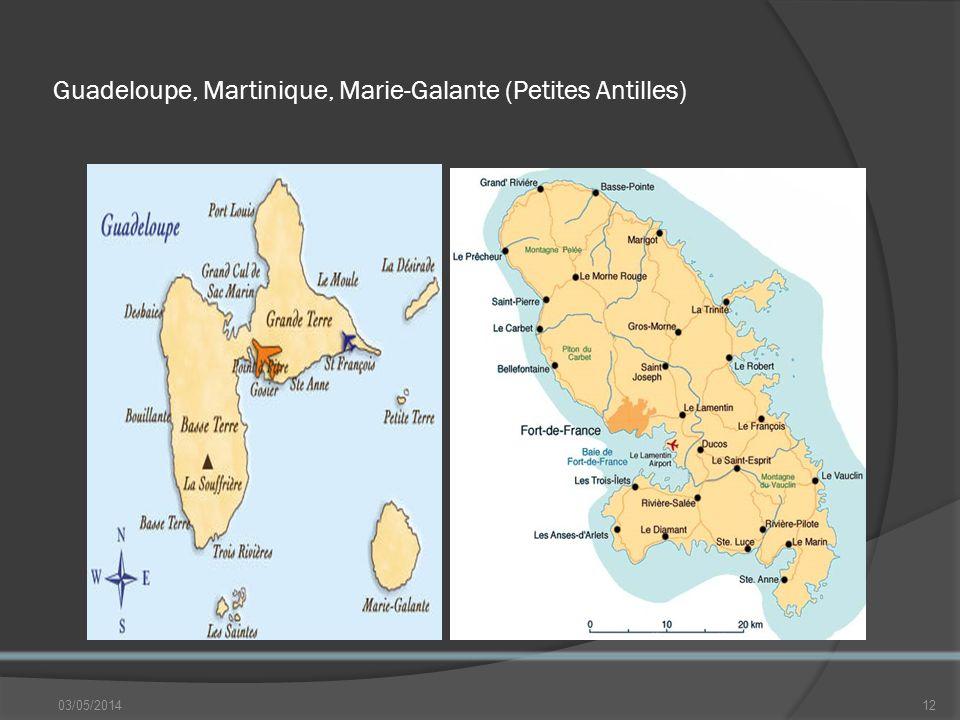 Guadeloupe, Martinique, Marie-Galante (Petites Antilles) 03/05/201412