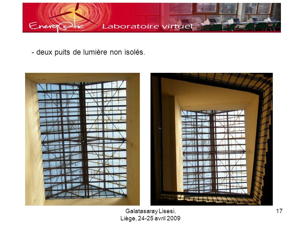 Galatasaray Lisesi, Liège, 24-25 avril 2009 17 - deux puits de lumière non isolés.