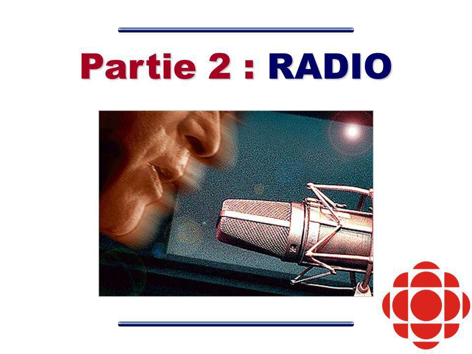Partie 2 : RADIO