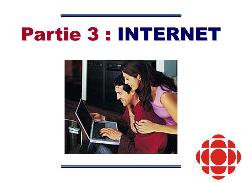Partie 3 : INTERNET
