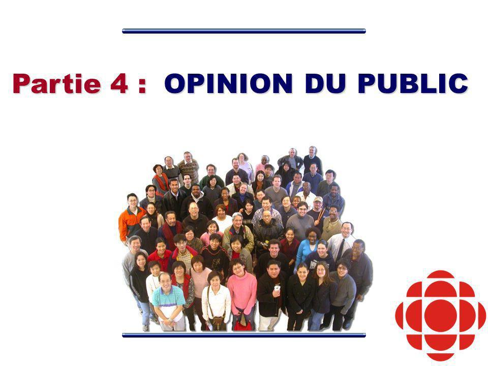 Partie 4 : OPINION DU PUBLIC