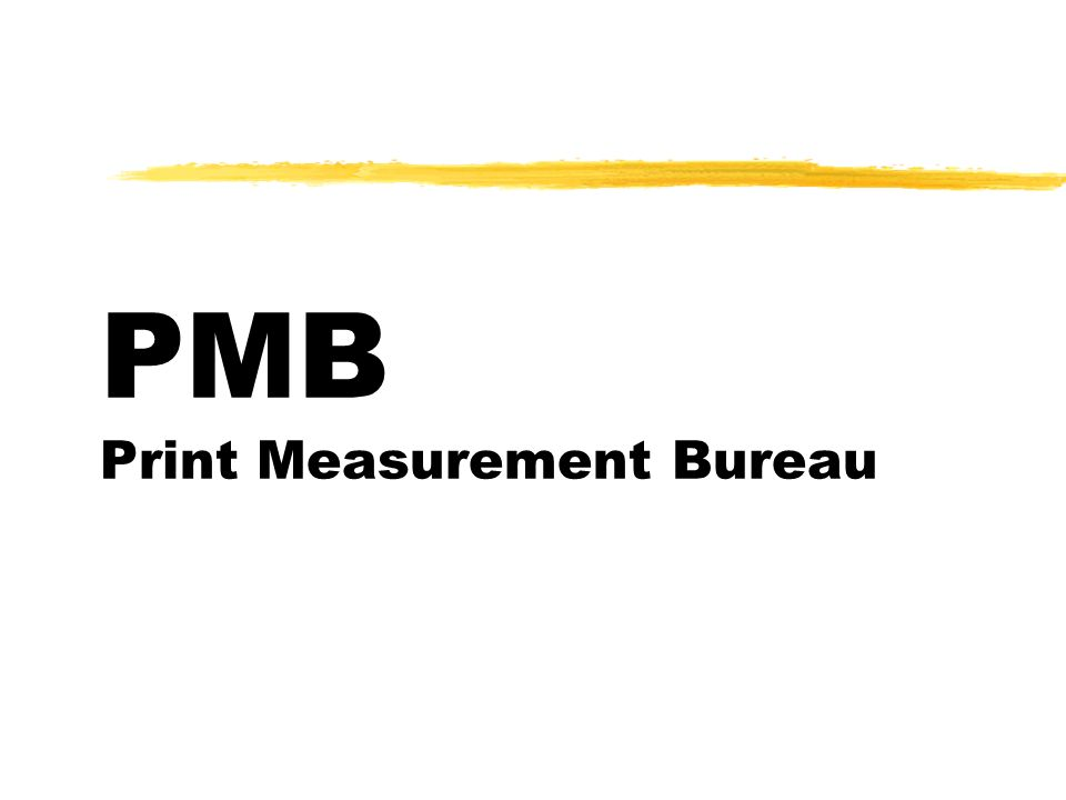 PMB Print Measurement Bureau