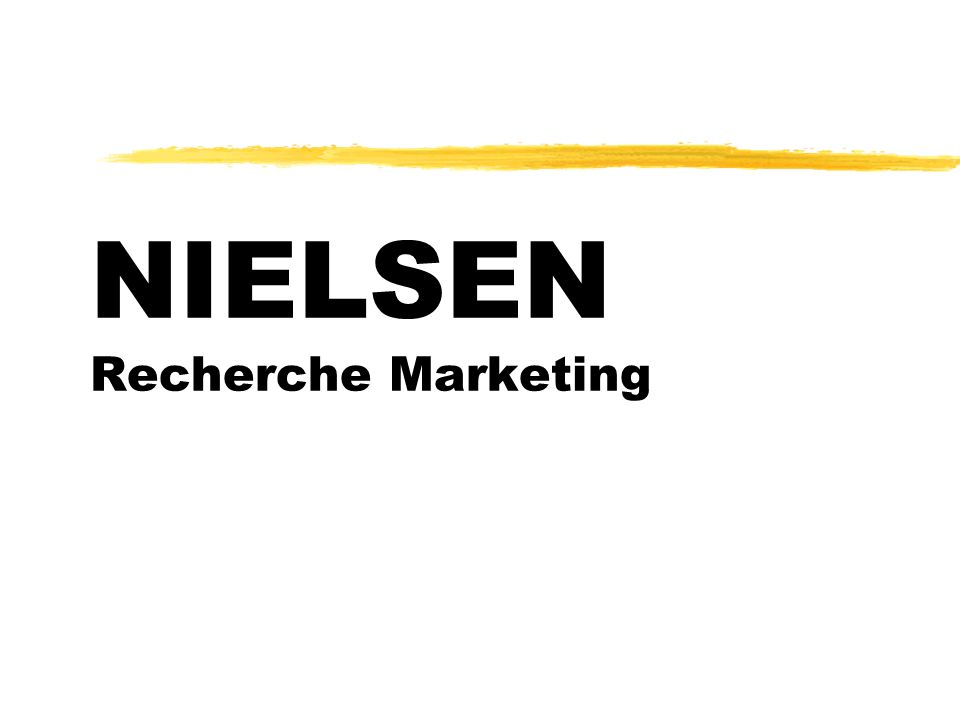 NIELSEN Recherche Marketing