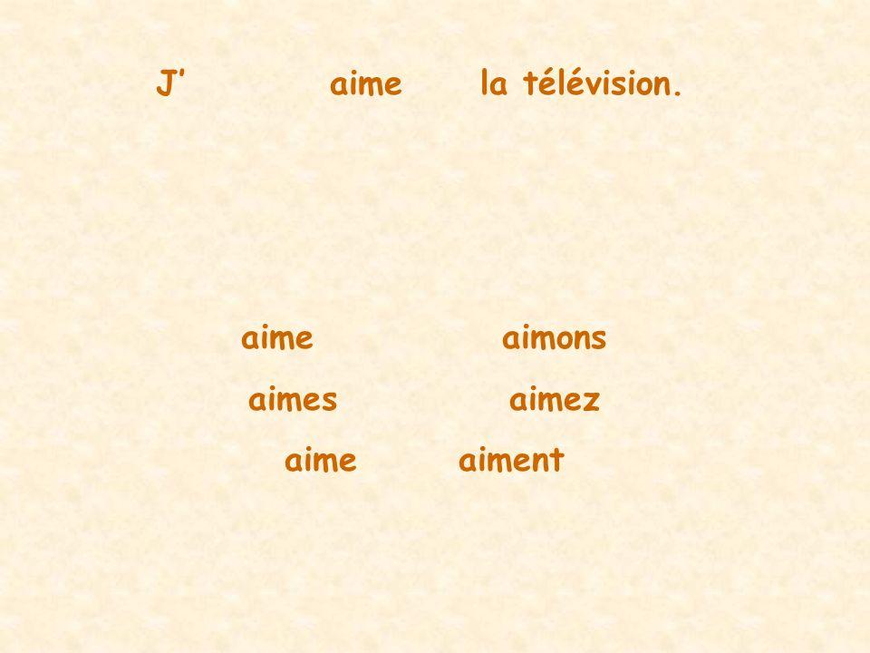 Jaimela télévision. aimeaimons aimesaimez aimeaiment