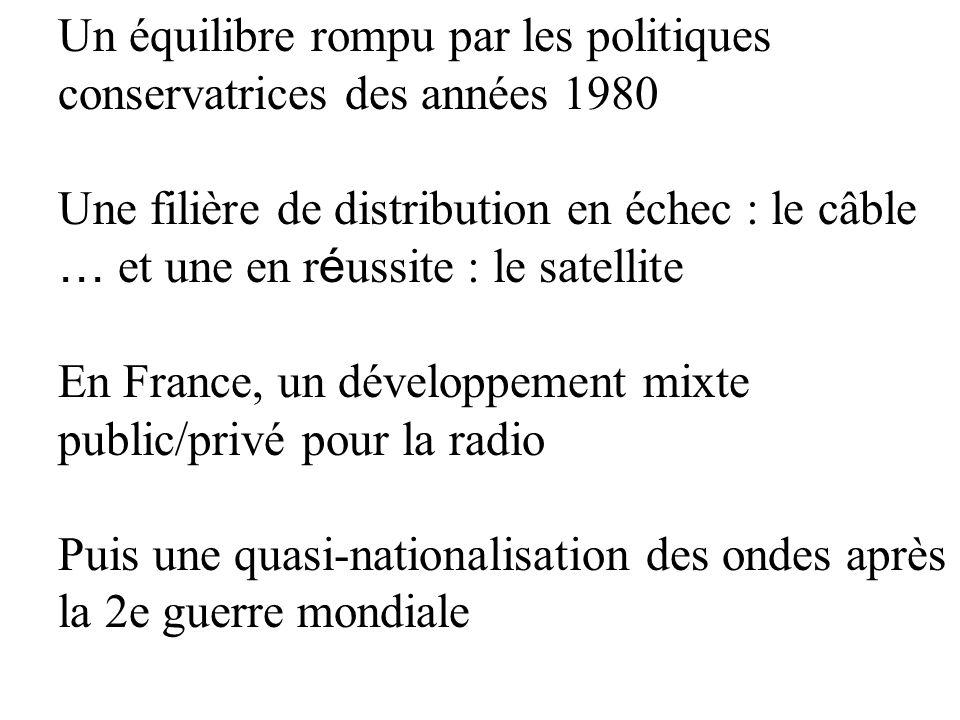 La télévision, un enjeu surtout politique Une ouverture progressive jusquà la libéralisation de 1981 Une politique économique qui maintient le rôle de l É tat De la privatisation de TF1 (1986) aux changements dans l audiovisuel public (2009)