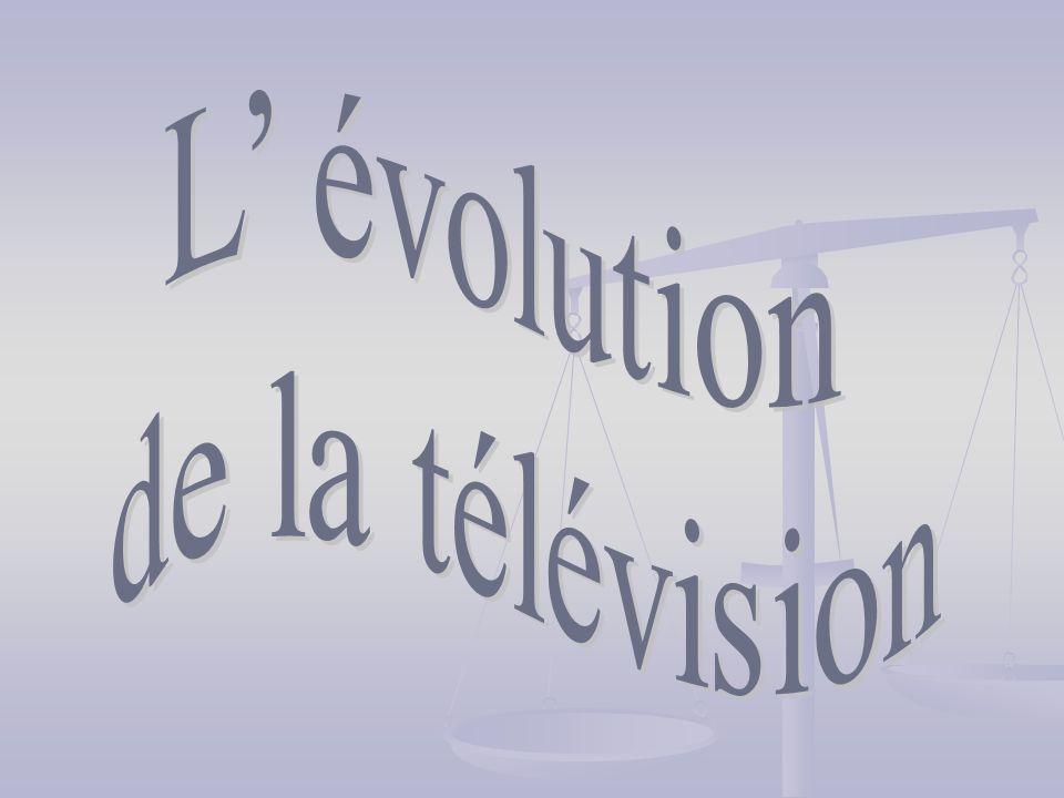1.1. Linventeur de la télévision. 2. 2. Les télévisions noirs et blancs.
