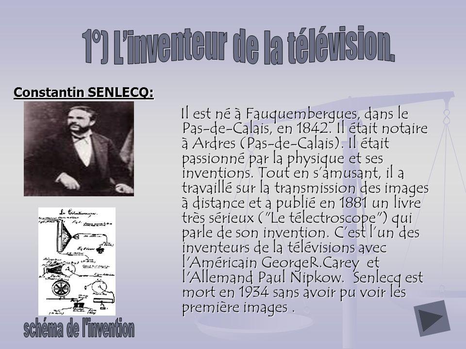 Constantin SENLECQ: Il est né à Fauquembergues, dans le Pas-de-Calais, en 1842.