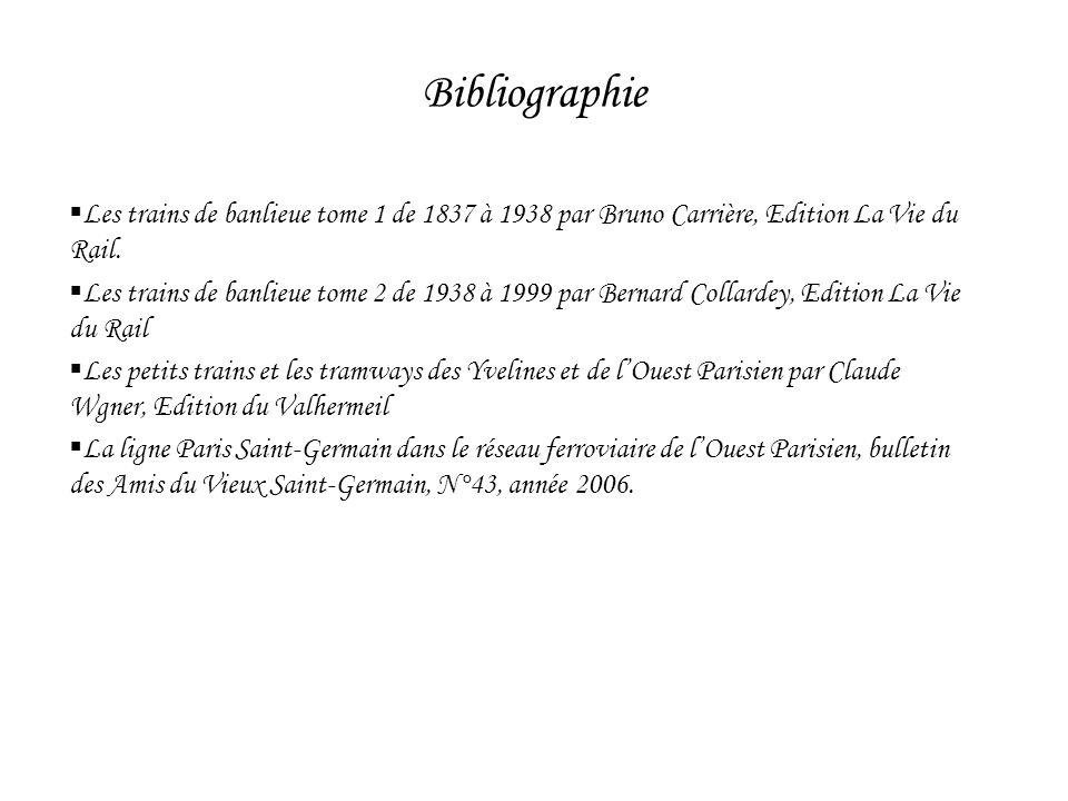 Les trains de banlieue tome 1 de 1837 à 1938 par Bruno Carrière, Edition La Vie du Rail. Les trains de banlieue tome 2 de 1938 à 1999 par Bernard Coll