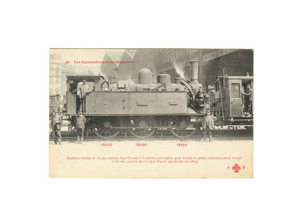 La Compagnie de lOuest, née en 1855, hérita de cette ligne, parmi dautres, dont le départ était la gare de Paris Saint Lazare.