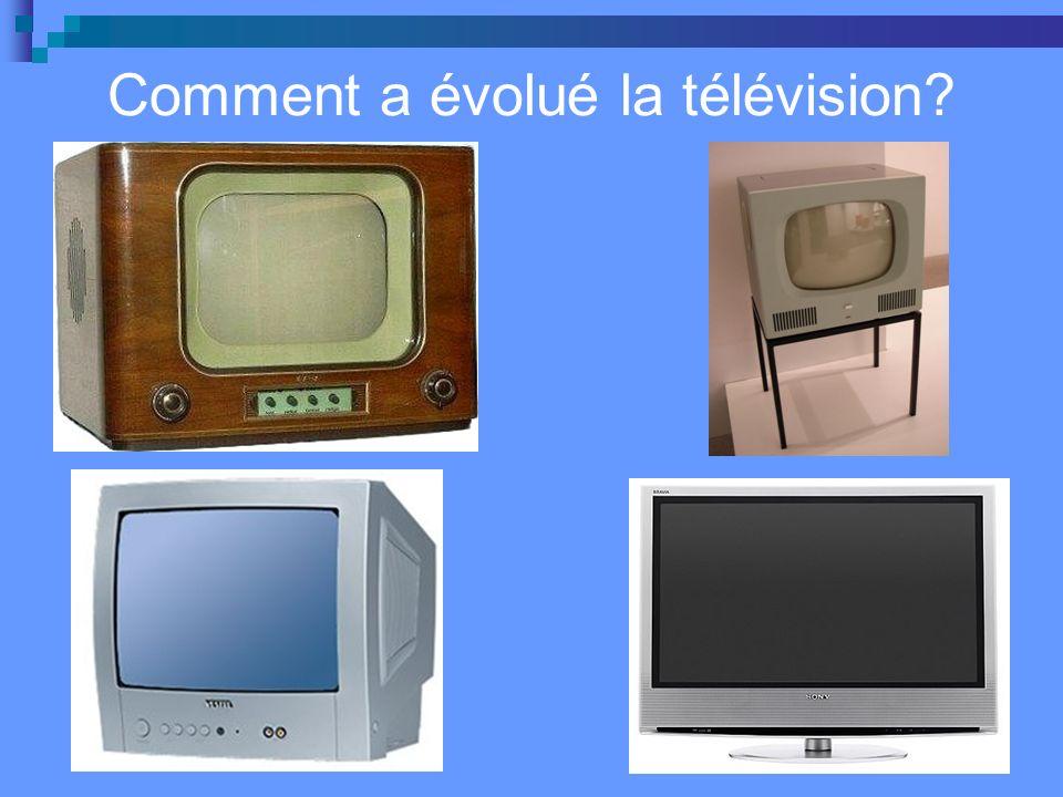 Comment a évolué la télévision?