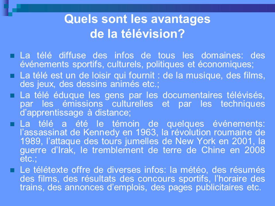 Quels sont les avantages de la télévision.