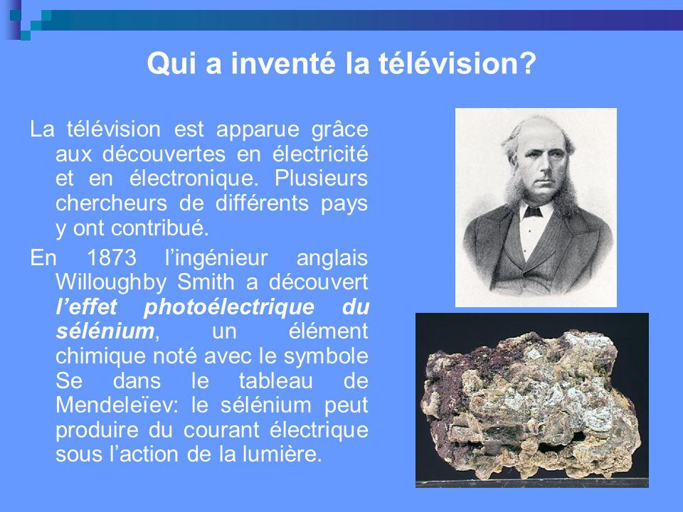 Qui a inventé la télévision.